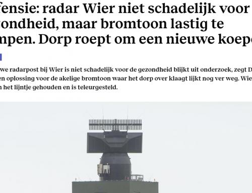 Defensie: radar Wier niet schadelijk voor gezondheid, maar bromtoon lastig te dempen.